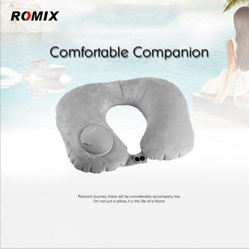 Romix RH50 Portable fury Travel Neck Pillow - Grey