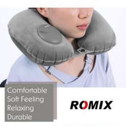 Romix RH50 Portable fury Travel Neck Pillow - Grey