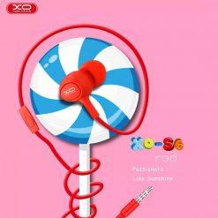 XO S6 Candy Earphone Series Handsfree In Ear Earphone - Red