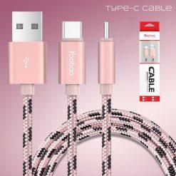 Yoobao Nylon Type-C Cable YB-415C - Rose Gold