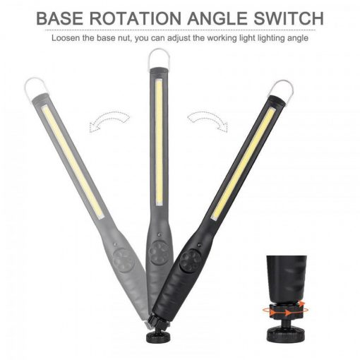 USB Rechargeable LED Work Lamp - Black