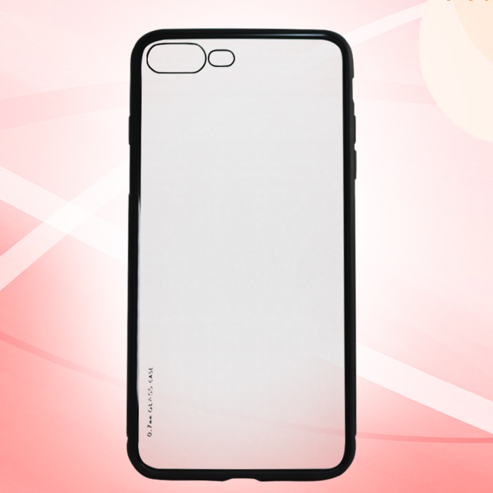Iphone 7 / Iphone 8 Hard Case Crystal Clear Bumper Protective Minimalist Cover - Black