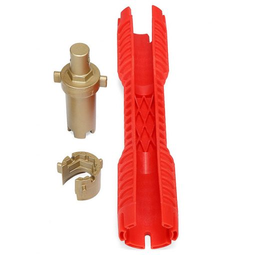 Multifunction Faucet Sink Installer Tool Water Pipe Tubing Socket Wrench Spanner - Red