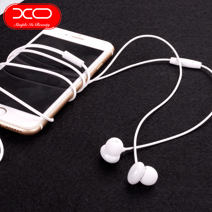 XO S12 Bean Earphone High Fidelity Sounds With In-line Controls And Microphone - Green