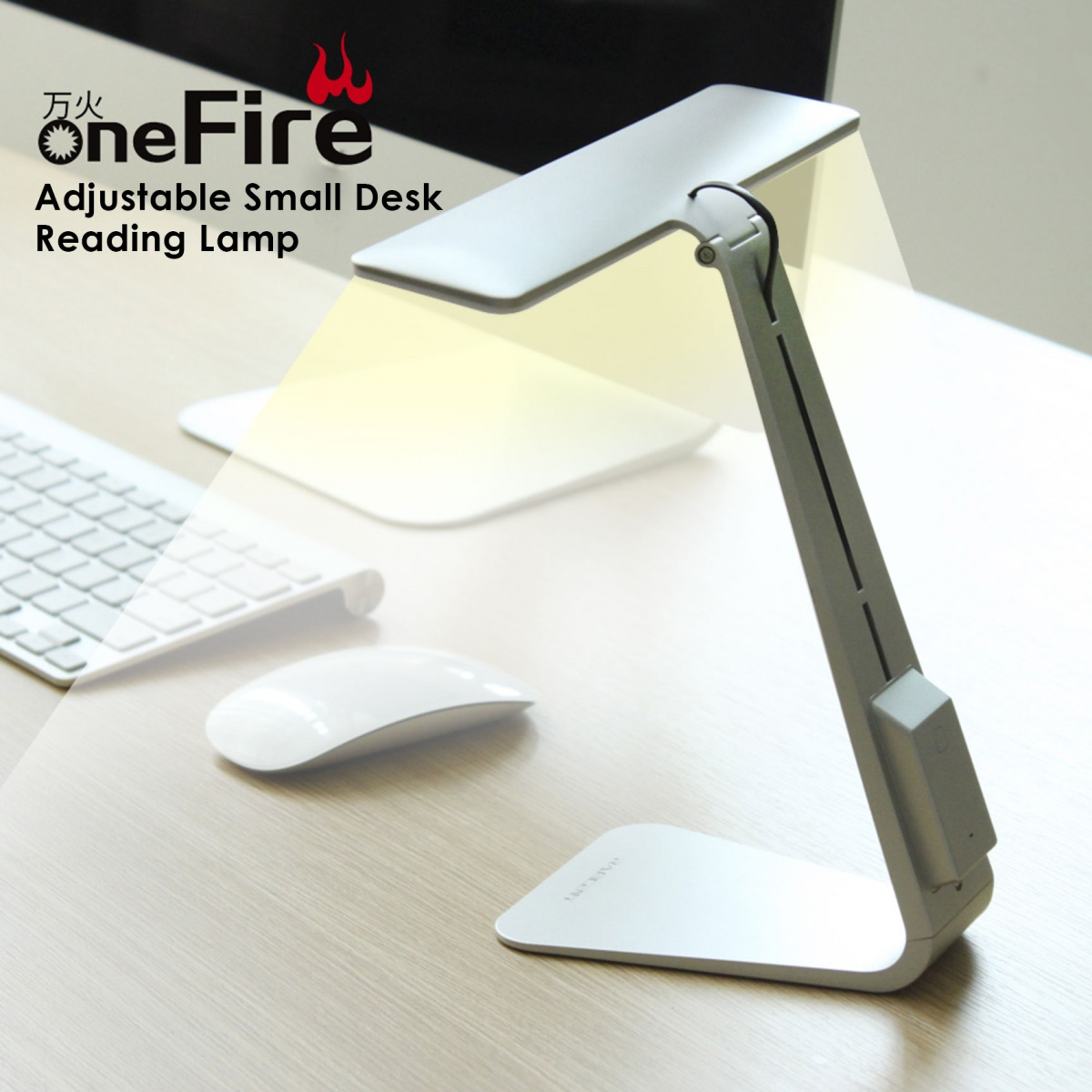 LED Reading Desk Lamp - Silver
