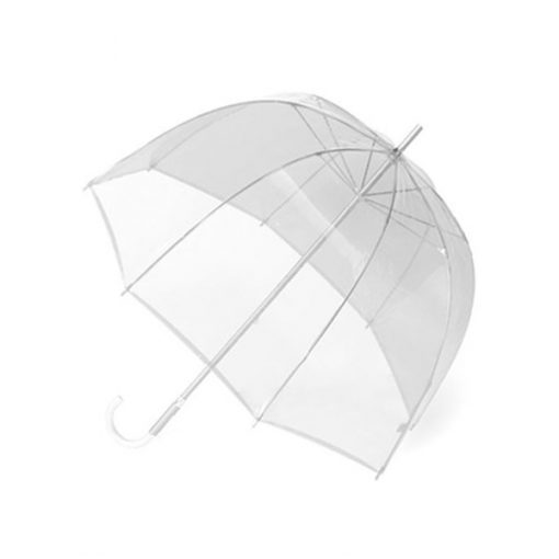 Transparent Dome Umbrella - White