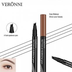 Veronni Liquid Tattoo Eyebrow Pen - Brown