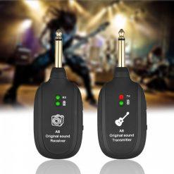 Wireless Audio Transmission Set With Receiver Transmitter - Black