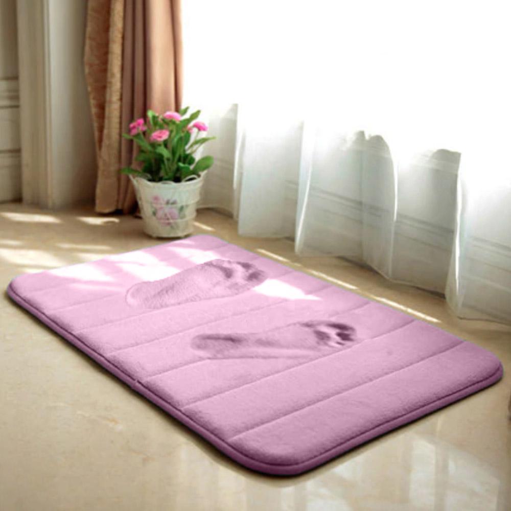 Anti-Slip Memory Foam Bathroom Bedroom Soft Mat - Purple