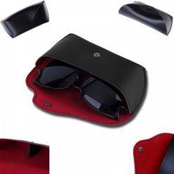 Sun Glass Leather Storage Case - Black