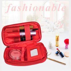 Waterproof Cosmetic Bag - Red