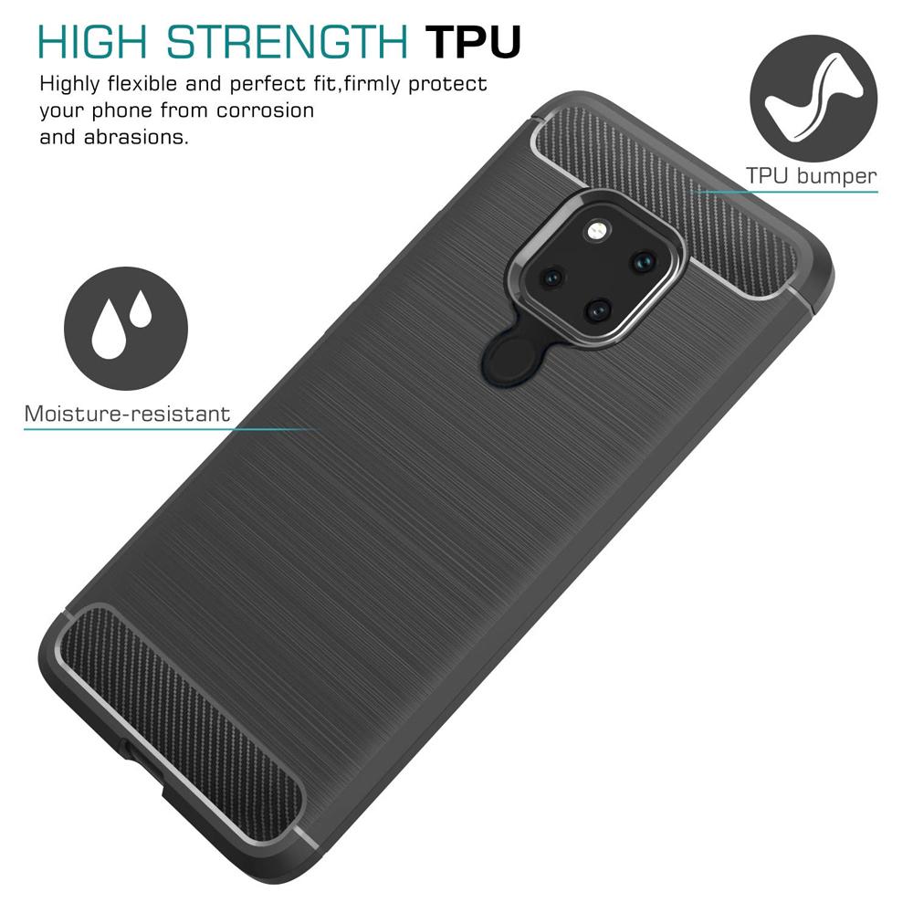 Huawei Mate 20 Fashion Fiber Phone Case - Black