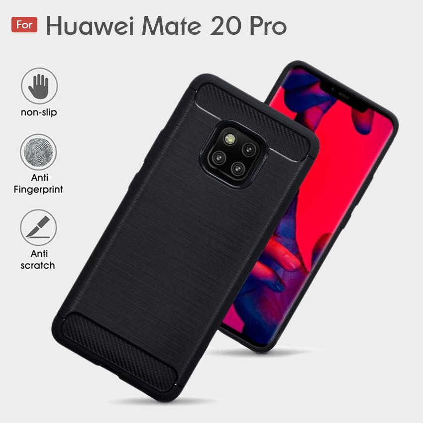 Huawei Mate 20 Pro Fashion Fiber Phone Case - Black