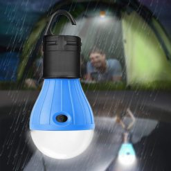 Waterproof Hanging LED Lamp Camping Tent Light Bulb - Blue