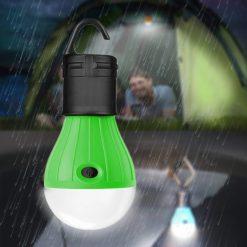 Waterproof Hanging LED Lamp Camping Tent Light Bulb - Green
