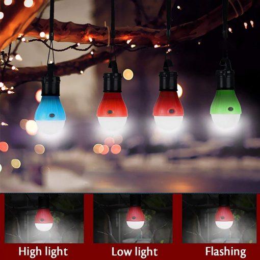 Waterproof Hanging LED Lamp Camping Tent Light Bulb - Blue