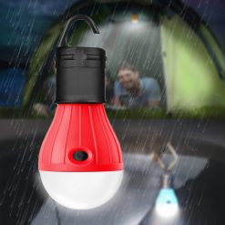 Waterproof Hanging LED Lamp Camping Tent Light Bulb - Red