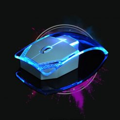 Transparent Led Light Wired Gaming Mouse