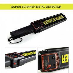Super Scanner Metal Detector - Black