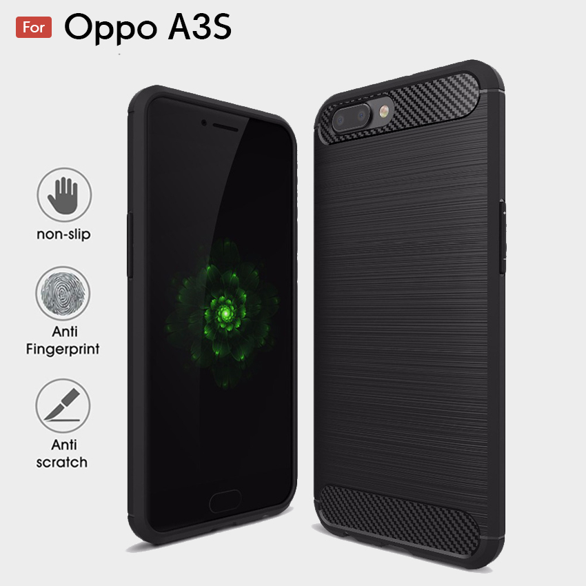 huge discount 8a2e6 a3b00 Oppo A3s Fashion Fiber Phone Case - Black