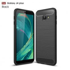 Samsung J4 Plus Fashion Fiber Phone Case - Black