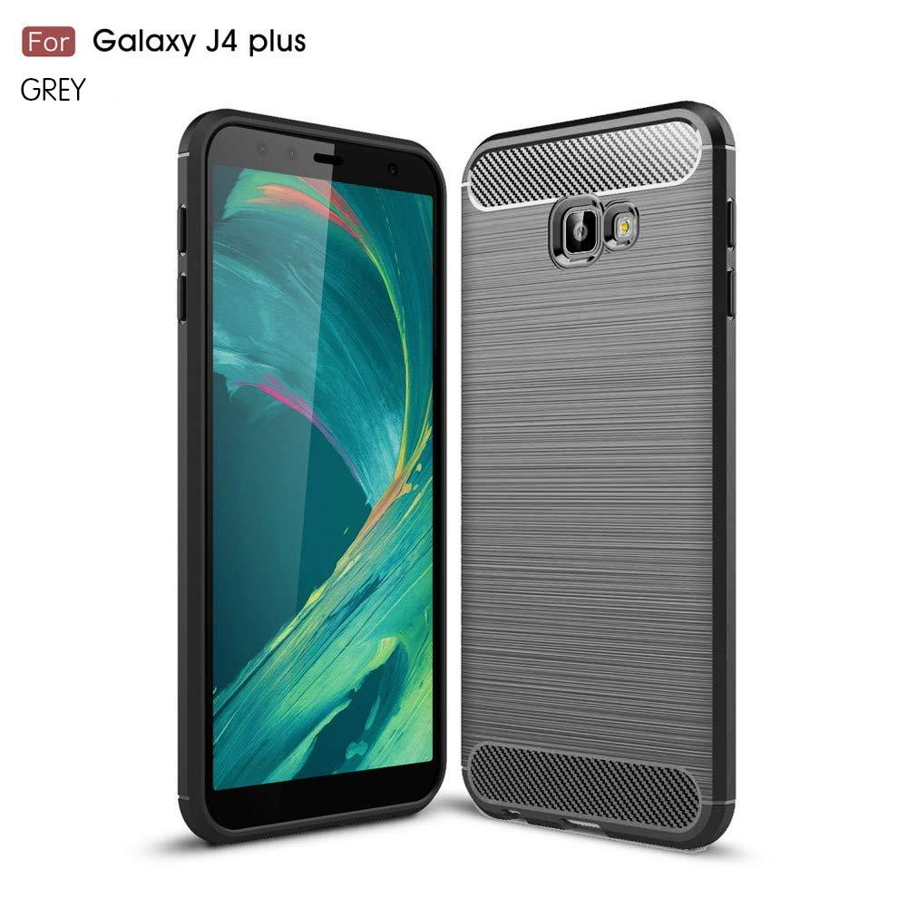 Samsung J4 Plus Fashion Fiber Phone Case - Grey