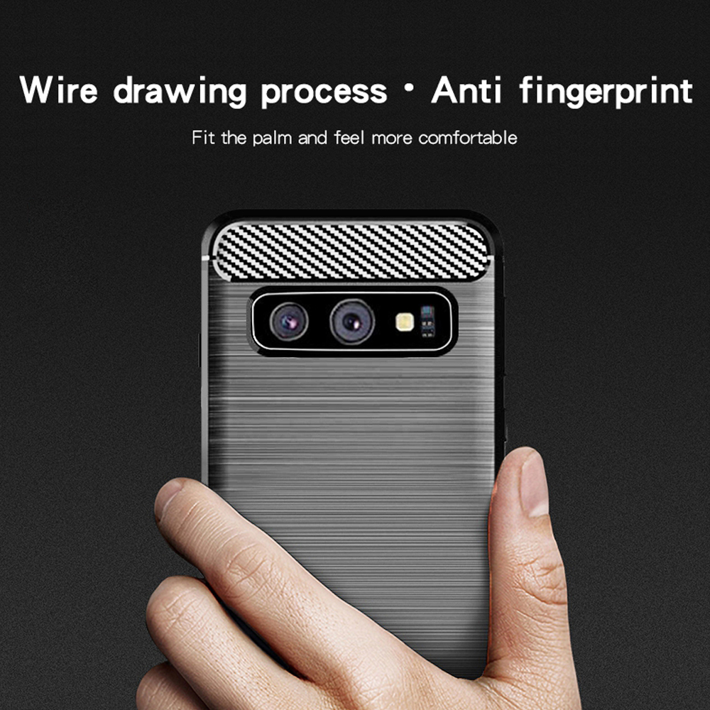 Samsung S10 Fashion Fiber Phone Case - Black