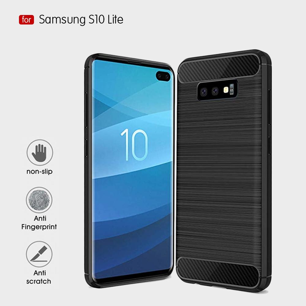 Samsung S10 Lite Fashion Fiber Phone Case - Black