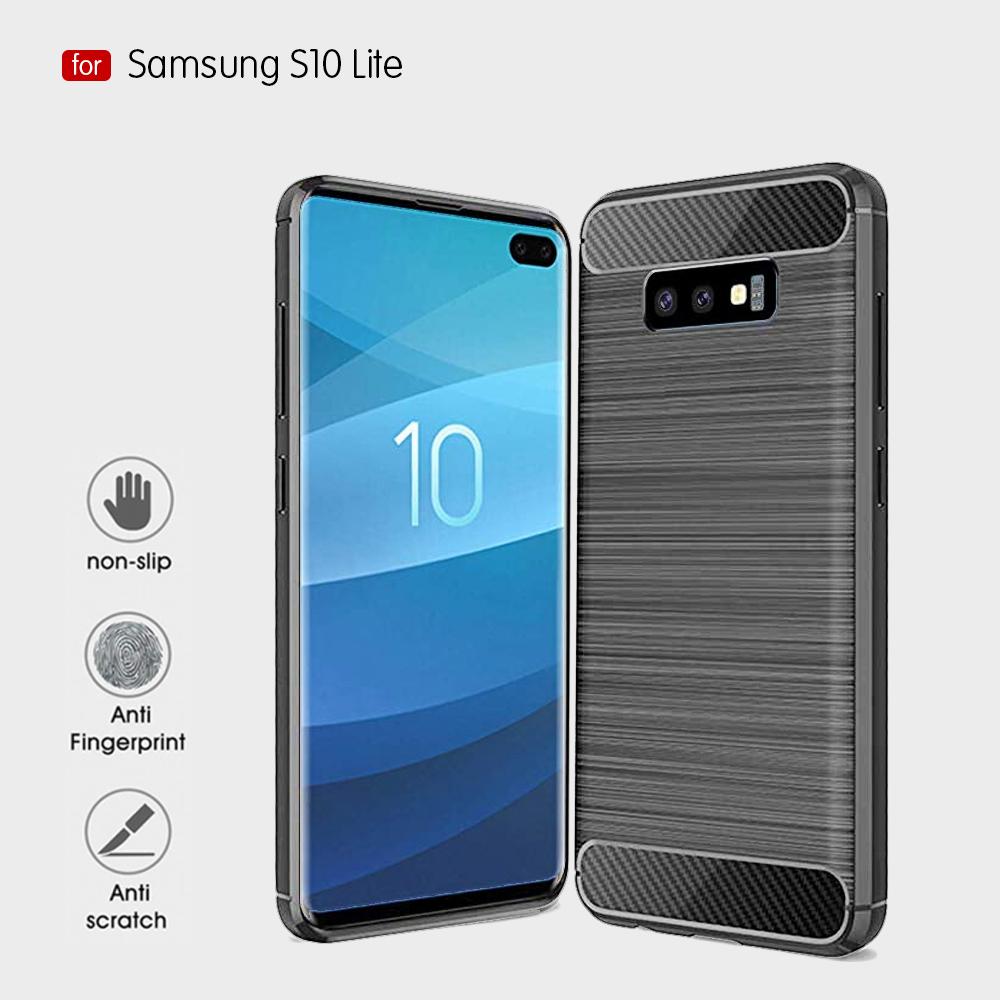 Samsung S10 Lite Fashion Fiber Phone Case - Grey