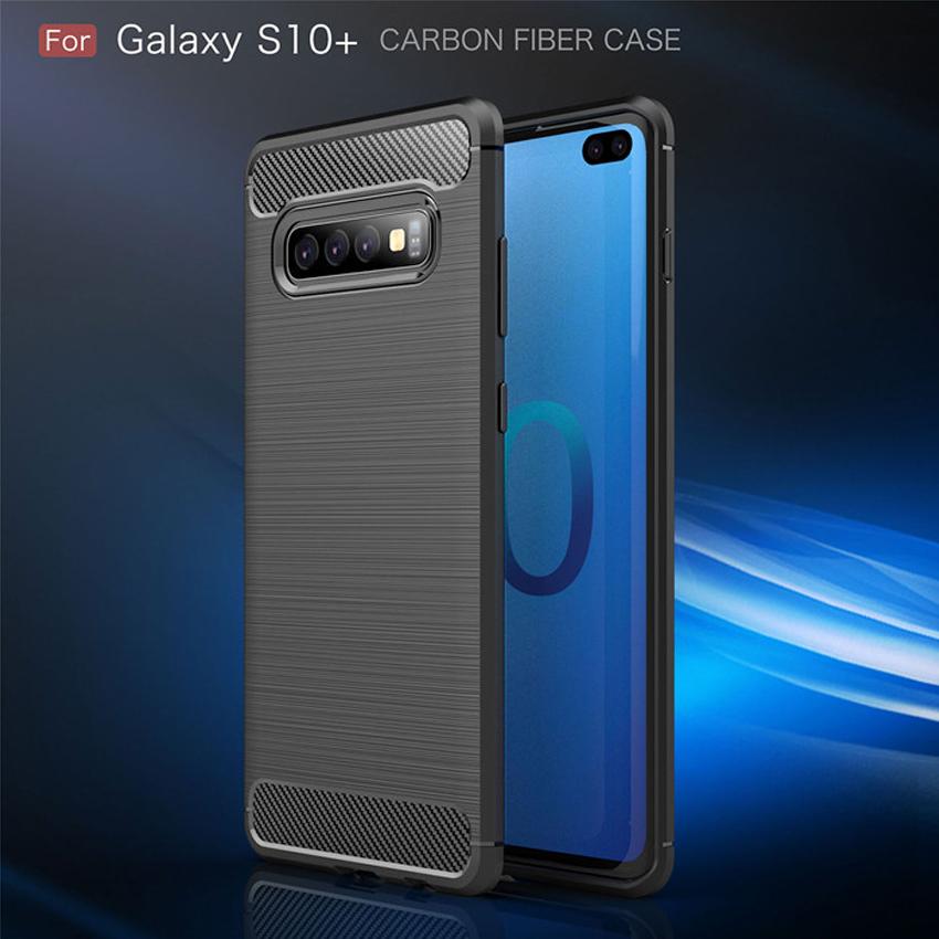 Samsung S10 Plus Fashion Fiber Phone Case - Grey