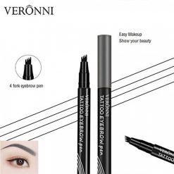 Veronni Liquid Tattoo Eyebrow Pen - Grey