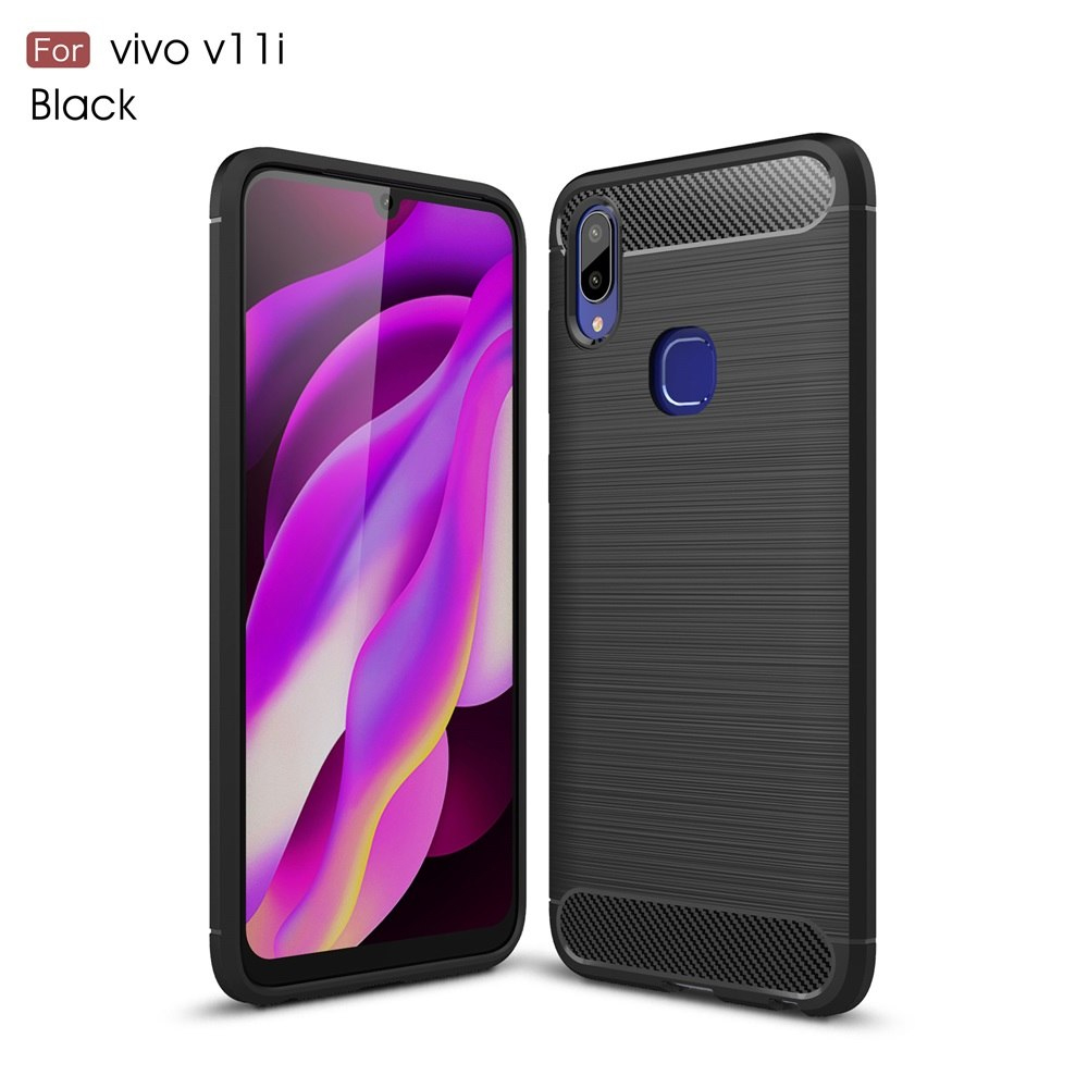 Vivo V11i Fashion Fiber phone Case - Black
