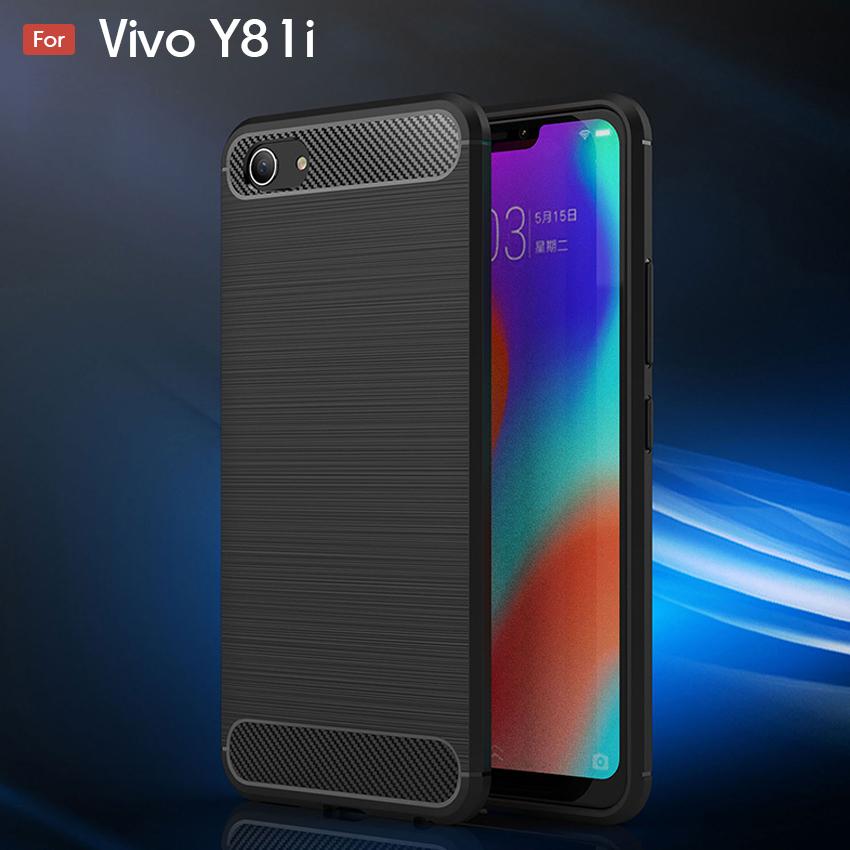 Vivo Y81i Fashion Fiber Phone Case - Black