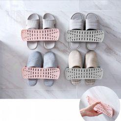 Wall Mounted Shoe Rack - Pink