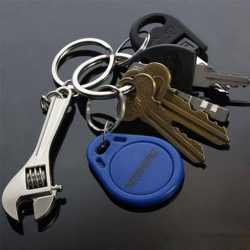 Wrench Spanner Key Chain - Silver