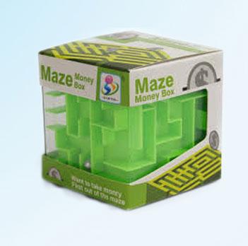 Maze Money Box - Green