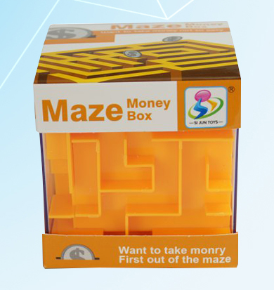 Maze Money Box - Orange