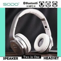 Sodo MH3 Bluetooth 2 IN 1 Headphone with Flip-out Speaker - Silver