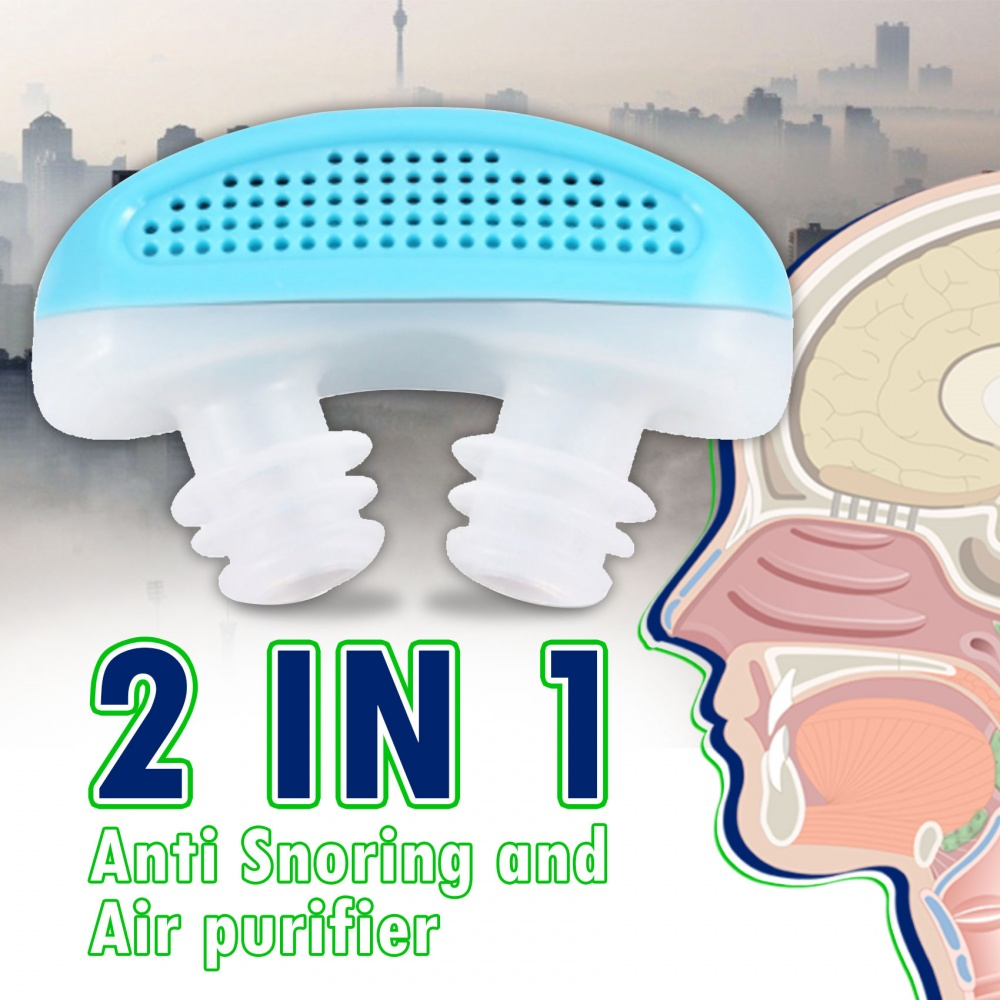 2 In 1 Anti Snoring And Air Purifier - Blue