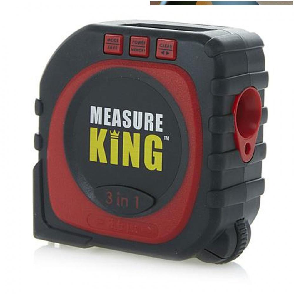 Measure King 3 In 1 Digital Tape Measure  - Red