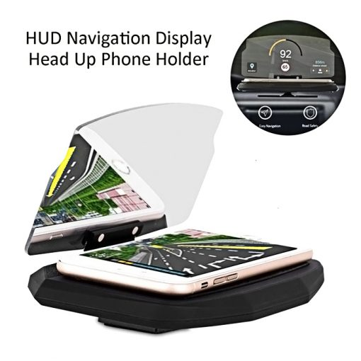 Universal GPS Navigation Through Projection HUD Head Up Display Phone Holder - Black