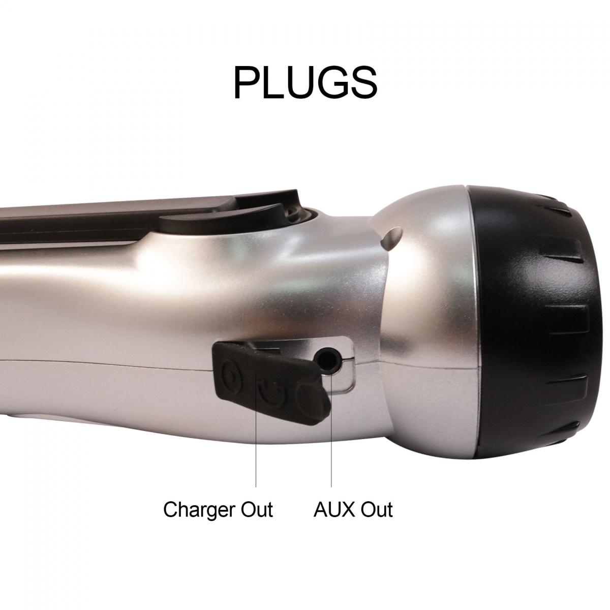 Multifunction Dynamo LED Emergency Flashlight - Silver