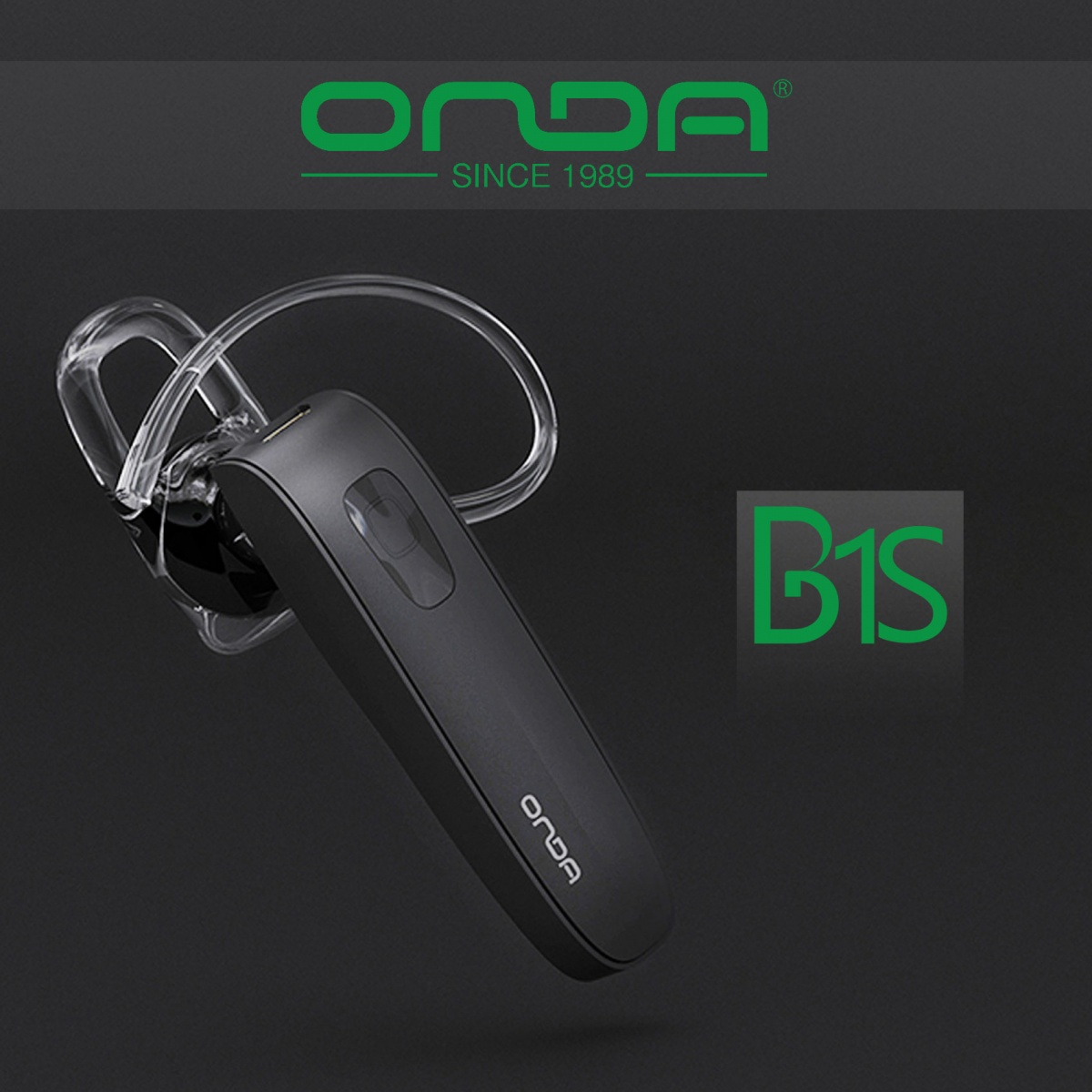 Onda B1S Bluetooth Headset - Black