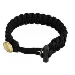 Spartan Survival Parachute Cord Bracelet - Black