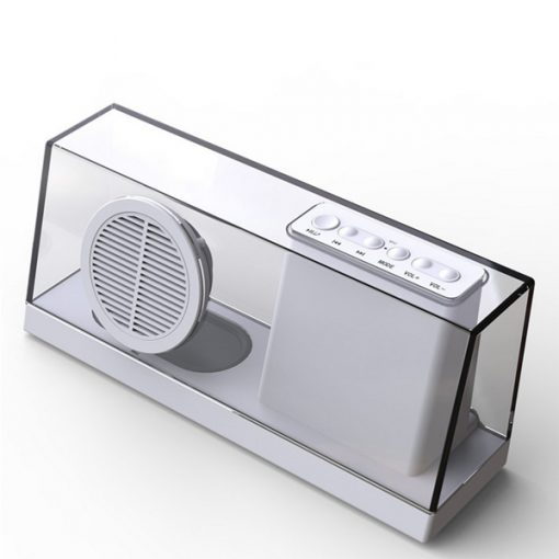 Sardine Wireless Bluetooth Fiber Glass Transparent Speaker  - White