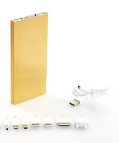 Slim Metal 20000mAh Power Bank With 2.1A Dual USB Port - Gold