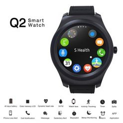 SOA SMA – R Dual Bluetooth Smart Watch for Android and iOS - Black