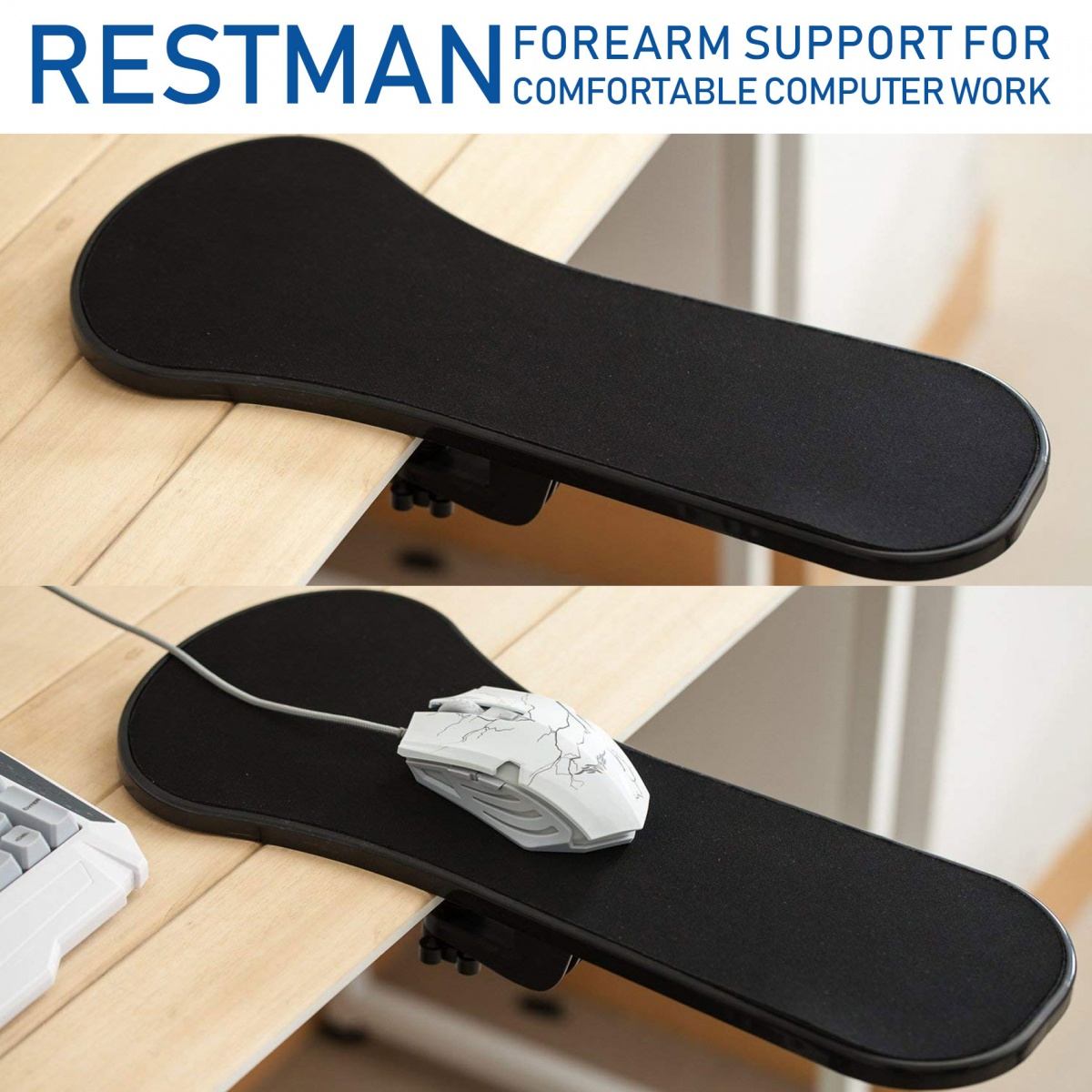 Restman Arm Rest Forearm Support - Black