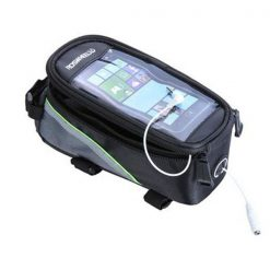 Small Top Tube Belt Bag With Plug For Touch Screen Phone - Green