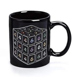 Rubik Cube Color Changing Coffee Mug - Black